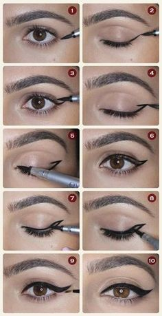 21 simple eyeliner hacks everyone should try - http: //embassy-toptrendspint. - 21 simple eyeliner hacks everyone should try embassy top trends … - Eyeliner Make-up, Eyeliner Hacks, Eyeliner Styles, How To Apply Eyeliner, Applying Eyeliner, Silver Eyeliner, Applying Makeup, Black Eyeliner, Coloured Eyeliner