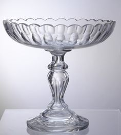 Digitalt Museum - Stettfat [Stettfat] Hadeland glassverk Bowl Cake, Glass Jug, Scandinavian Style, Punch Bowls, Art Nouveau, Tea Cups, Antiques, Tableware, Vintage