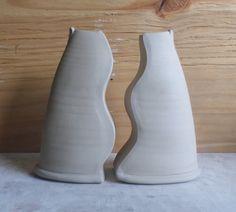 Split bud vases.