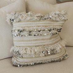 Morrocan Handira Lines Cushion