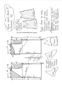 Blusa regata decote V – Marlene Mukai Plus Size Sewing Patterns, Burda Patterns, Dress Sewing Patterns, Blouse Patterns, Clothing Patterns, Sewing Pants, Sewing Clothes, Embroidery Techniques, Sewing Techniques