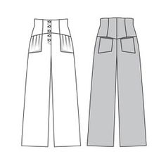 sailor-ish high waisted pants, if only I would ever get to level of making pants?!