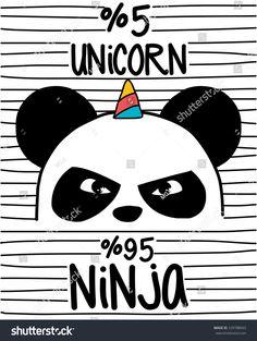 cute panda,ninja panda and unicorn , Panda Kawaii, Cute Panda, Real Unicorn, Cute Unicorn, Panda Wallpapers, Cute Wallpapers, Corn Drawing, Panda Drawing, Ninja Warrior