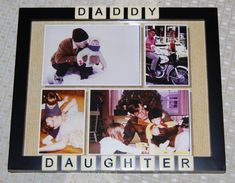 Gifts For Dad From Daughter | Daddy Daughter Frame Gift for Dad
