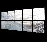 Passing Currents (10 Panel) - this 10 panel sheet metal art is simple yet elegant