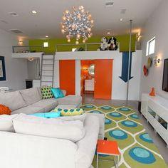 Contemporary Family Room Design,