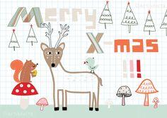 Christmastcard illustrated by artibonita; seen on HappyMakersBlog.com