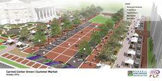 Carmel Center Green - Summer Market | Carmel, Indiana, USA | Design: Rundell Ernstberger Associates