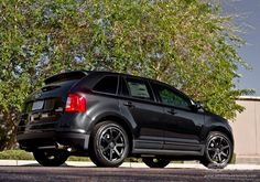 """2013 Ford Edge with 20"""" Giovanna Andros in Matte Black wheels"""
