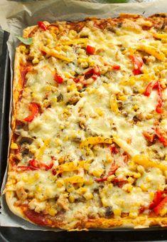 Frittata, Hawaiian Pizza, Hamburger, Yummy Food, Ala Pizza, Cooking, Kitchen, Delicious Food, Burgers
