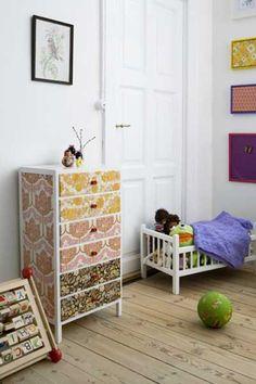 25 fotos e ideas para decorar un mueble con papel pintado.   Mil Ideas de Decoración