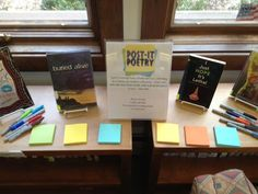 TLT: Teen Librarian's Toolbox: TPiB: 5 Things To Do With Post-Its In Your Library. Poetry month idea.