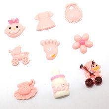 <9 pz/lotto> diy della resina cabochon abbellimenti resina del flatback per scrapbook baby shower regali(China (Mainland))