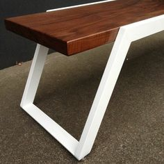 Fresh, New Contemporary coffee table handcrafted in Portland, Oregon. Welded Furniture, Loft Furniture, Iron Furniture, Steel Furniture, Home Decor Furniture, Industrial Furniture, Furniture Design, Furniture Cleaning, Inexpensive Furniture