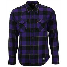 Levi's Men's Baltimore Ravens Plaid Barstow Western Shirt (125 BRL) ❤ liked on Polyvore featuring men's fashion, men's clothing, men's shirts, men's casual shirts, purple, mens western shirts, mens western button up shirts, mens plaid western shirts, mens button up shirts and mens button down shirts