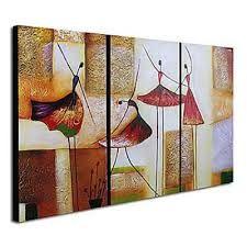 Telas com pinturas abstratas
