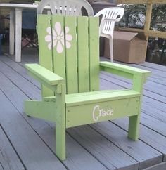 How to Build a Super Easy Little Adirondack Chair -- think I'm not gonna have my dad make one of these for Mac? 'Cause I am.