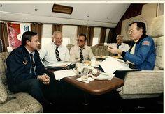 Congressman Robert Lagomarsino with President George H. W. Bush and others.
