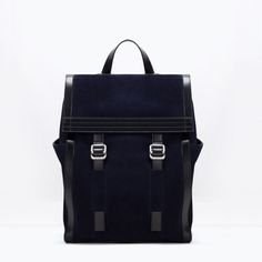 Image 1 of COMBINATION LEATHER RUCKSACK from Zara
