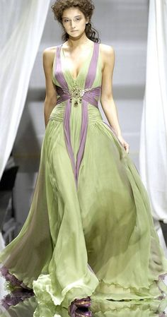 Zuhair Murad Haute Couture | Love the style, but I think different colors could make this dress even better.