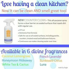 This Counter Cleaner is amazing!! I've used it to clean my oven, clean mirrors, sinks etc and not only does it smell nice, it does an amazing job!! $12 http://www.jenniferrenauld.scentsy.ca