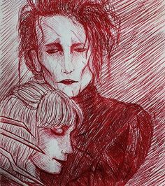 This is a quick Edward Scissorhands pen sketch that I did. #yyc #art #design #drawing #pendrawing #johnnydepp #edwardscissorhands by iteachdesign