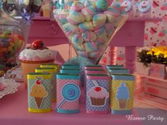Bonne Party Candy Themed Party, Candy Land Theme, Party Themes, Party Ideas, 2 Year Old Birthday Party, 2nd Birthday, Birthday Parties, Cupcake Party, Party Cakes