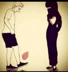 Fall in love with some1 who deserves ur heart Not some1 who plays with it  Love hurts when it isn't for Allah's sake
