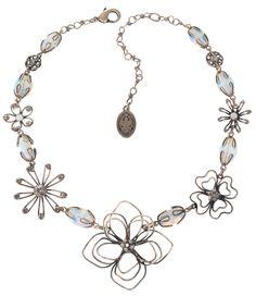 Halskette Verlorene Unschuld am Gartenzaun weiß
