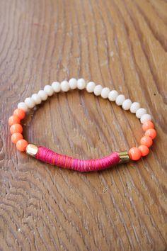 Orange & White Bracelet — The Impeccable Pig Boutique