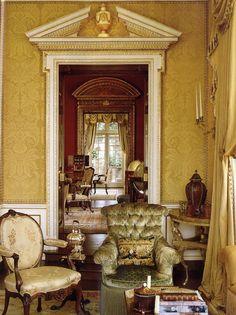 Home In Montreal Of A Collector David Easton Designer Door Frame Molding Aubusson