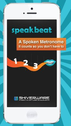 SpeakBeat Metronome - The only one that counts! ($0.99 on sale 12-22-12 )  [May be useful for fluency] uses a spoken count instead of ticks or clicks that makes it easy to follow along and keep track of where you are in the bar. Great for music students and teachers! Choose a voice, a time signature and a tempo, and you're ready to go. You can add sub-beats, a count-in and more! SpeakBeat will allow you to focus on the material, rather than keeping the beat.
