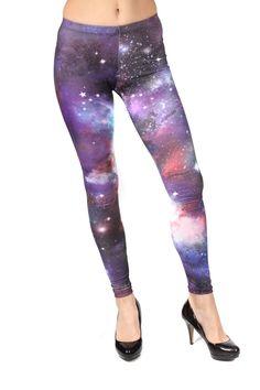 Space Printed Leggings - ShopPrettyGirl