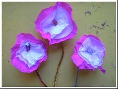 Kids Craft- Flowers. Good ideas for Spring