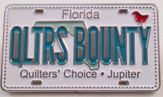 in Jupiter is a Row By Row Experience, License Plates, The Row, Applique, Quilting, Neon Signs, Cars, Car License Plates, Autos