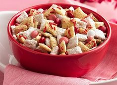 Fun V-day Chex Mix!