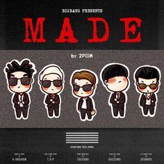 [fanart] #BIGBANG MADE ❗️❗️♥️ #BIGBANGisBack ☀️ #TOP #SEUNGRI #TAEYANG #DAESUNG #GDRAGON