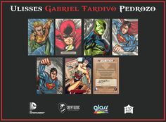 Sketch Card DC Comics Cryptzoic - Ulisses Gabriel tardivo Pedrozo