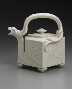Parian ware teapot, English, 1872, made at Worcester Royal Porcelain Company, England