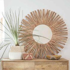 Miroir rond en bois flotté D100 | Maisons du Monde