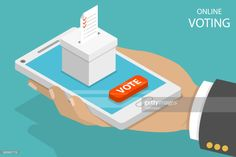 Flat isometric vector concept voting online, e-voting, election. Voting Online, Free Illustrations, Still Image, Action, Concept, Flat, Group Action, Bass, Dancing Girls