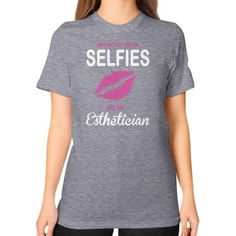 SEE AN Esthetician Unisex T-Shirt (on woman)