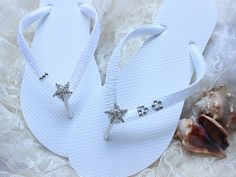 I Do Bridal Flip Flop, White Flip Flops, Wedding Flip flops, wedding sandals, beach wedding shoes, bridal sandals