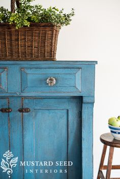 Painting Furniture with Milk Paint- flow blue milk paint jelly cupboard Painting Wood Furniture, Furniture Inspiration, Blue Painted Furniture, Furniture Restoration, Milk Paint Furniture, Jelly Cupboard, Chalk Paint Furniture, Distressed Furniture, Wood Furniture