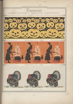 Dennison Manufacturing Co.  Dealer's Catalogue of Tags and Specialties, 1913-1914 - Halloween and Thanksgiving
