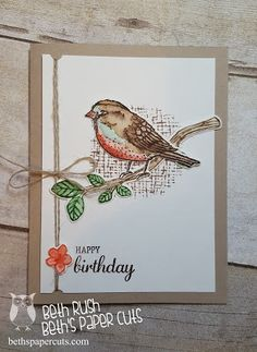 Best Birds stamp set and Birds and Blooms thinlits dies.  Beth's Paper Cuts