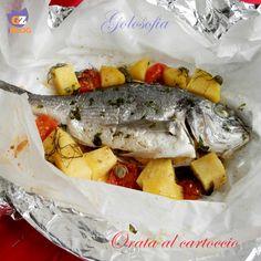Orata al cartoccio, squisito secondo piatto gustosissimo e leggero, ideale per chi ama il pesce, perfetto per chi segue una dieta sana ed equilibrata.