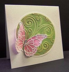 **CAS163 TLC370 Faux Patina with Butterfly by hobbydujour - Cards and Paper Crafts at Splitcoaststampers