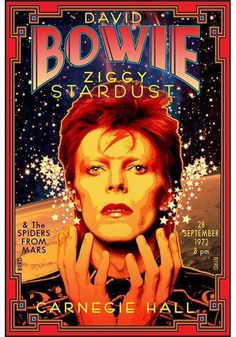 David Bowie and the Spiders from Mars concert at Carnegie Hall in 1972, during the Ziggy Stardust era.