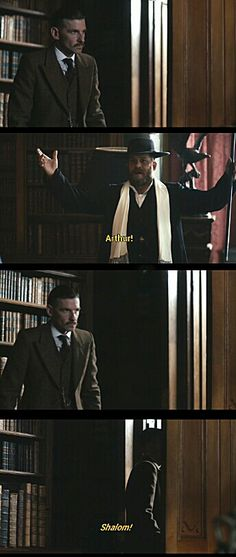 """Arthur and Alfie   Peaky Blinders. That was bloody brilliant... """"Mr. Shelby? There's someone here to see you, sir. He calls himself 'The Wandering Jew.'"""""""